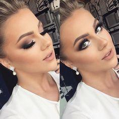 Fall bridal makeup natural ideas for 2019 - Prom Makeup For Brown Eyes Full Face Makeup, Day Makeup, Blue Makeup, Prom Makeup, Makeup For Brown Eyes, Wedding Makeup Looks, Wedding Hair And Makeup, Dramatic Wedding Makeup, Makeup Trends