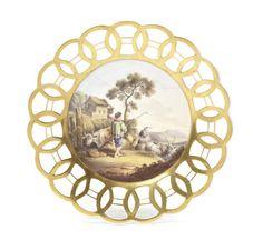 A Spode cabinet plate, circa 1820
