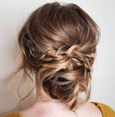 Messy Chignon with a Braid