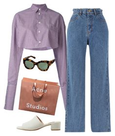A fashion look from July 2017 featuring white top, blue jeans and heeled sandals. Browse and shop related looks. Cute Date Outfits, Edgy Outfits, Cool Outfits, Summer Outfits, Fashion Outfits, Look Fashion, Teen Fashion, Womens Fashion, Estilo Retro