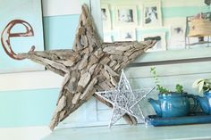Driftwood star – to go with metal star - as d/w Jo