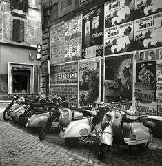 """July 1955. """"Rome, Italy"""