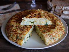 Comparte Recetas - Tortilla española con cebolla y perejil