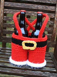 Santa Pants Gift Basket - pattern to purchase by Sonya Blackstone.