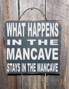 mancave decor, mancave, What Happens in the Mancave Sign, custom mancave sign…