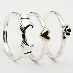 3 Piece claddagh ring. In love