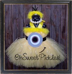 Deluxe - 1 in a MINION - DESPICABLE ME Inspired - Halloween Tutu Dress & Headband - Sizes 0, 3, 6, 9, 12, 18, 24 Mos, 2t, 3t, 4t, 5t, 6, 7 by OhSweetPickles on Etsy https://www.etsy.com/listing/158777007/deluxe-1-in-a-minion-despicable-me
