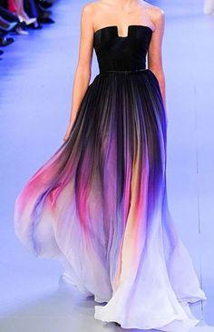 DRESS Chiffon occasion dress. Full length colour graduated. Look a like dress made to order @Luulla.com $99