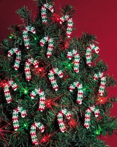 Holiday Beaded Ornament Kit-Mini Candy Canes