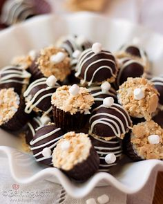 S'more Truffles. I'm a sucker for s'mores in any form!