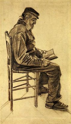 Old Man Reading (1882) Vincent van Gogh