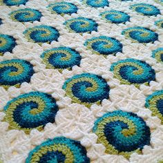 Crocheted Pattern baby blanket afghan wrap throw to wrap up baby in warmth on…