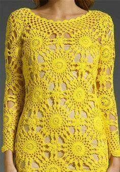 Fabulous Crochet a Little Black Crochet Dress Ideas. Georgeous Crochet a Little Black Crochet Dress Ideas. Crochet Blouse, Crochet Lace, Knit Dress, Crochet Shawl, Dress Patterns, Crochet Patterns, Mode Crochet, Online Dress Shopping, Crochet Fashion