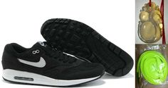 6d58307b2a64c0 Chalcedony Dragon Volt Lace Mens Nike Air Max 1 Black White Shoes New  Jordans Shoes