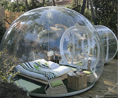 Bubble tent! I want.... No I NEED this! And there's other cool stuff on this site too ;)