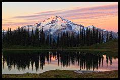 """Glacier Peak & Image Lake"" - Glacier Peak Wilderness, Washington. Photo by Justin Reznick."