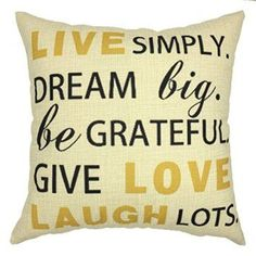 YOUR SMILE-Letter Cotton Linen Throw Pillow Covers Decorative 18 x 18  I love to have inspirational home décor all over my home as it makes my home feel happy, peaceful and relaxing.  For this reason, I adore live laugh love home décor.  These beautiful and trendy home decorative accents provide inspiration and motivation.  I love the fact you can you live laugh love wall clocks, live laugh love accent pillows and some live laugh love wall art to make your life more lively full of more…