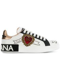 Dolce & Gabbana, Dolce Gabbana Sneakers, Moda Sneakers, Shoes Sneakers, Classic Sneakers, White Sneakers, Sneakers Fashion, Fashion Shoes, Mcqueen Sneakers