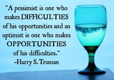 Optimism Quote - The Returned Missionary