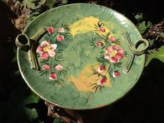 Pretty vintage handmade and painted in Italy by Glassthatrocks, $35.00