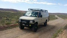1999 Ford E350 van, diesel 4x4 conversion, camp, surf, travel off grid