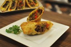 Ground Venison Philly Egg Rolls Legendary Whitetails - Mix The Vegetables With The Ground Browned Venison Layout An Egg Roll Wrap With A Corner Pointing Towards You So Its In The Shape Of A Diamond And Place A Piece Of Singles Cheese In The C Elk Recipes, Wild Game Recipes, Venison Recipes, Cooking Recipes, Deer Food, Deer Meat, Duck Dynasty Recipes, Ground Venison, Oh Deer