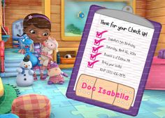 CUSTOM Doc McStuffins Birthday Invitation 5x7 by PartyPotpourri, $8.00
