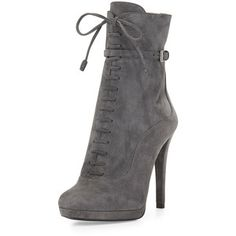 Prada Lace-Up High-Heel Ankle Boot