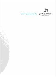 JUNIA NOCCHI comunicação - Júnia Nocchi - logomarca e papelaria por katianey #katianey #designkatianey