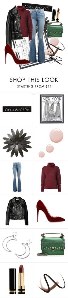 """""""xx"""" by pauloskompanieros on Polyvore featuring 3R Studios, Stephenson, Topshop, Frame, BY. Bonnie Young, Yves Saint Laurent, Christian Louboutin, Ana Accessories, Fendi and Gucci"""