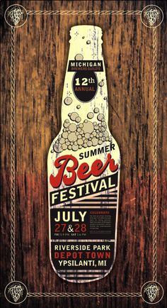 Print - Event Identity - Beer Festival by Haley Querro at Coroflot.com