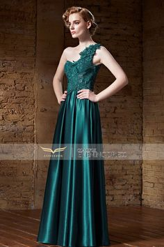 Chic A-line One Shoulder #FormalDress. Attractive? Wanna have a try? #2016prom #wedding #formalgown #designerpromdress