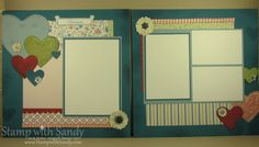 I'm excited to share this month's scrapbook page spread, which we'll be doing at my scrapbook class later this month. I love designing a 12...