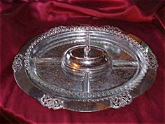 Imperial Candlewick Divided Relish Tray