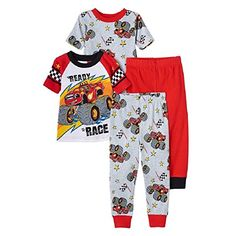 Blaze Monster Machine Toddler Boys Pajama 4PC Set Size 4T >>> To view further for this item, visit the image link.(It is Amazon affiliate link) #90likes
