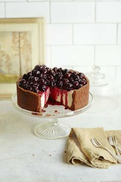 This boozy cheesecake recipe is made with cherries from a jar so can be served as a dessert any time of year.