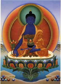Medicine Buddha. One of the best representations I've seen--Blue is the healing color used to represent the Medicine Buddha--Beautiful!