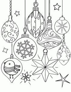 Christmas Decorations Ornaments Coloring Page See the category to find more printable coloring sheets. Also, you could use the search box to find what. Christmas Ornament Coloring Page, Printable Christmas Ornaments, Free Christmas Coloring Pages, Free Christmas Printables, Free Printable Coloring Pages, Coloring Book Pages, Coloring Pages For Kids, Coloring Sheets, Christmas Decorations