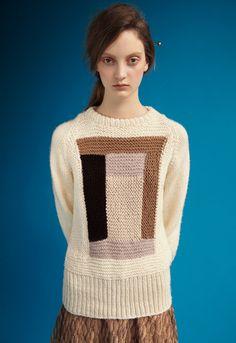 Rodarte: amish quilt motif sweater - Opening Ceremony
