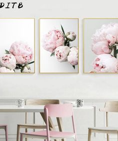 Pretty Pink Peonies Wall Art Fine Art Canvas Prints Modern Floral Pictures For Bedroom Living Room Minimalist Styling Glam Home Decor Canvas Poster, Canvas Art Prints, Canvas Wall Art, Wall Art Prints, Picture Room Decor, Nordic Art, Decorating With Pictures, Decoration Pictures, Flower Canvas