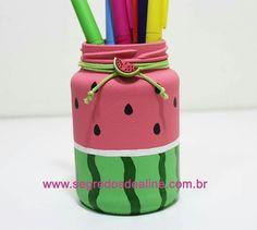 Diy Bottle, Bottle Art, Bottle Crafts, Diy Home Crafts, Cute Crafts, Creative Crafts, Mason Jar Crafts, Mason Jar Diy, Garrafa Diy