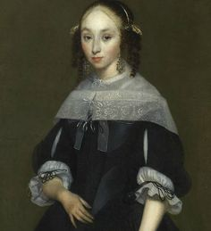 Gerard ter Borch - Portrait of a Young Lady : The Frick Collection