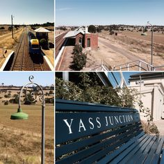 Yass Junction railway station- the Sydney-Melbourne train stops here twice a day.