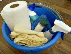 bathroom cleaning bucket