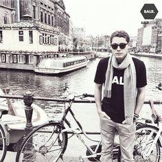 Cris Cab in Amsterdam wearing a BALR. shirt!