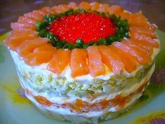 Ingredients for cooking: Salted salmon - 400 grams. Appetizer Recipes, Dessert Recipes, Desserts, Queens Food, Good Food, Yummy Food, Sandwich Cake, Food Decoration, Russian Recipes