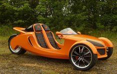 The Razor kit car Custom Trikes, Custom Cars, Velo Design, E Biker, Reverse Trike, Trike Motorcycle, Unique Cars, Kit Cars, Car Wheels