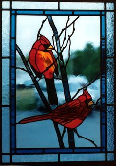stain glass cardinals - Google Search                                                                                                                                                      More