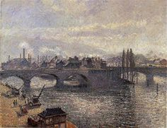 The Pont Corneille, Rouen, Morning Effect - Camille Pissarro