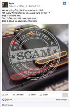 More iPhone Giveaway Scams Hitting Facebook